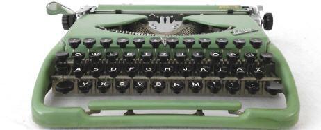 """""""Kolibri""""                       In technischer Hinsicht handelte es sich bei der """"Kolibri"""" um eine Typenhebelmaschine mit Vorderaufschlag und einfacher Umschaltung. Sie hatte eine vierreihige Tastatur mit 43 Schreibtasten, mit denen 86 verschiedene Zeichen"""