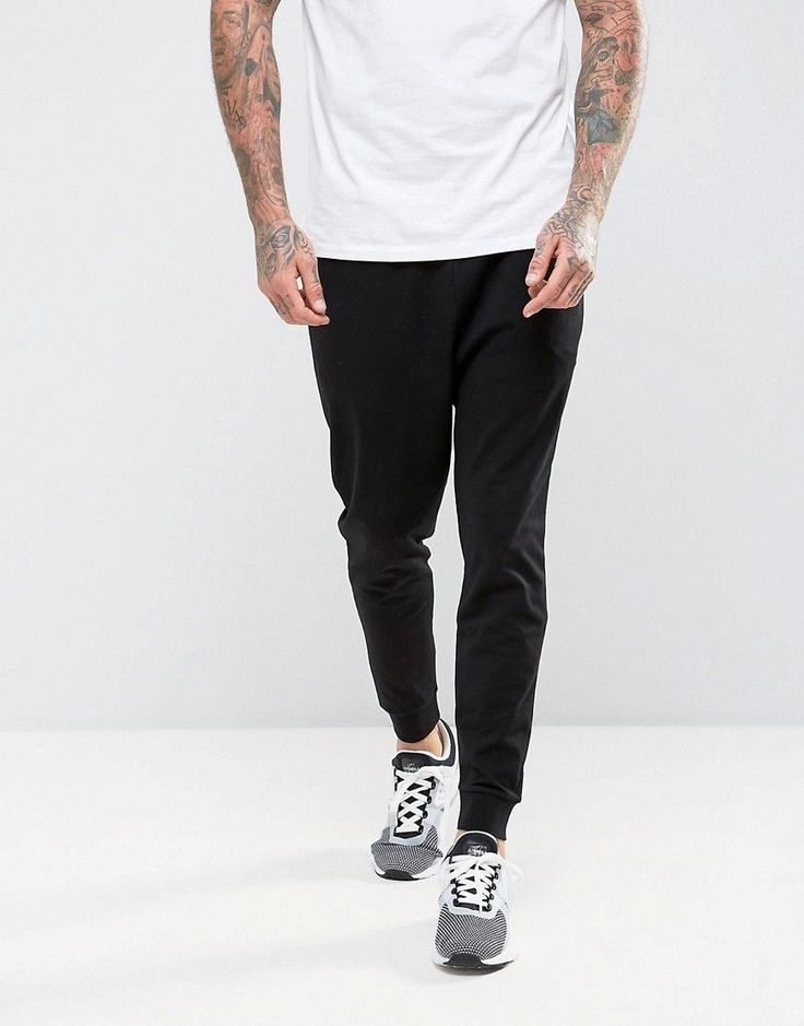 ASOS Drop Crotch Joggers In Lightweight Jersey - Black