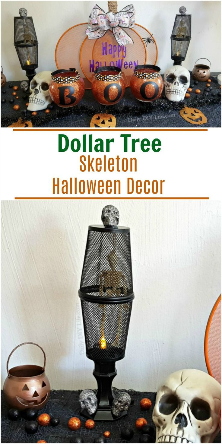 DIY Dollar Tree Skeleton Spooky Halloween Decorations
