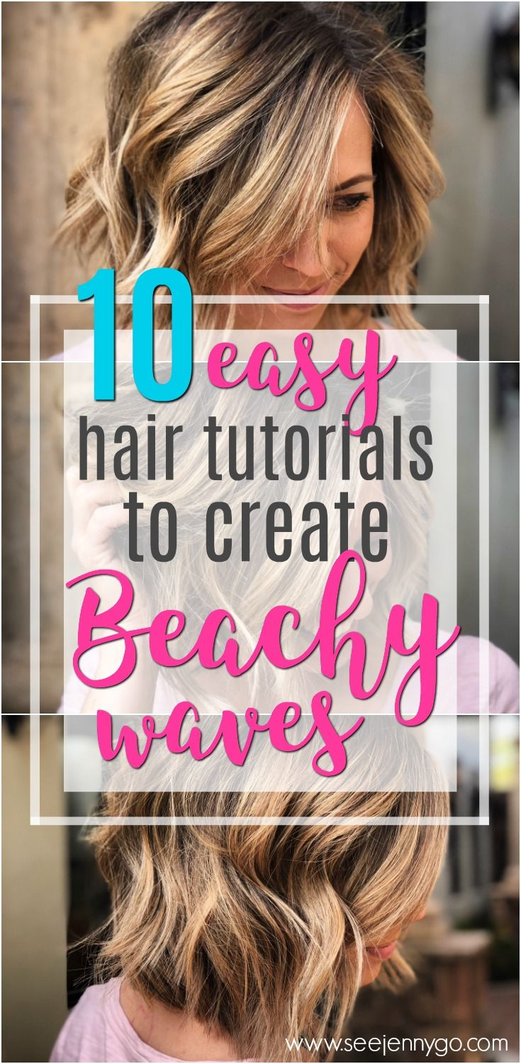 Find the best way to create easy beach waves for short hair.