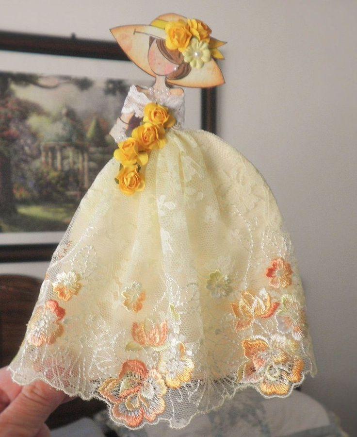 Handmade Scrapbook Prima Disney Princess Paper Doll Paper Piecing by Becky #HandmadeShabbyCottage