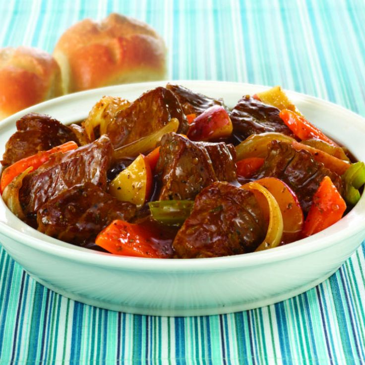 This quick and easy recipe delivers a hearty beef stew in just 30 minutes, not hours. Using McCormick® Beef Stew Seasoning Mix, a more tender cut of beef and frozen vegetables makes stew a weeknight meal.