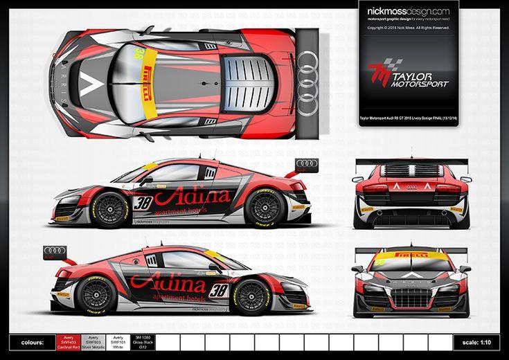 Audi A 9 >> TM 2015 Audi R8 Livery Design FINAL.jpg (800×566) | motorsport | Pinterest | Audi R8, Audi and Cars
