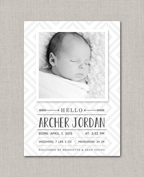 29 best Graphic Design – Baby Announcement Cards Etsy