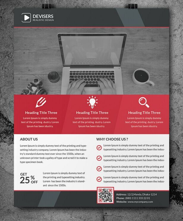 Modern Corporate Business Flyer Template (3 Colors)