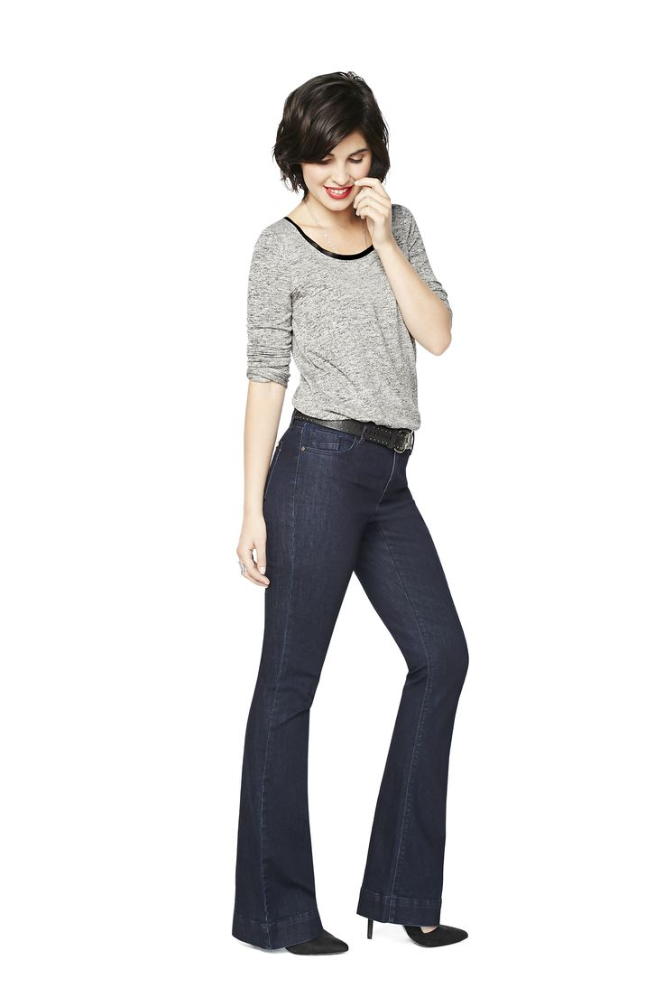 Flare: Save the drama for your wardrobe. These jeans hug your curves in all the right places and then break into a dramatic legs-for-days flare. Get ready to channel your inner 70s supermodel.