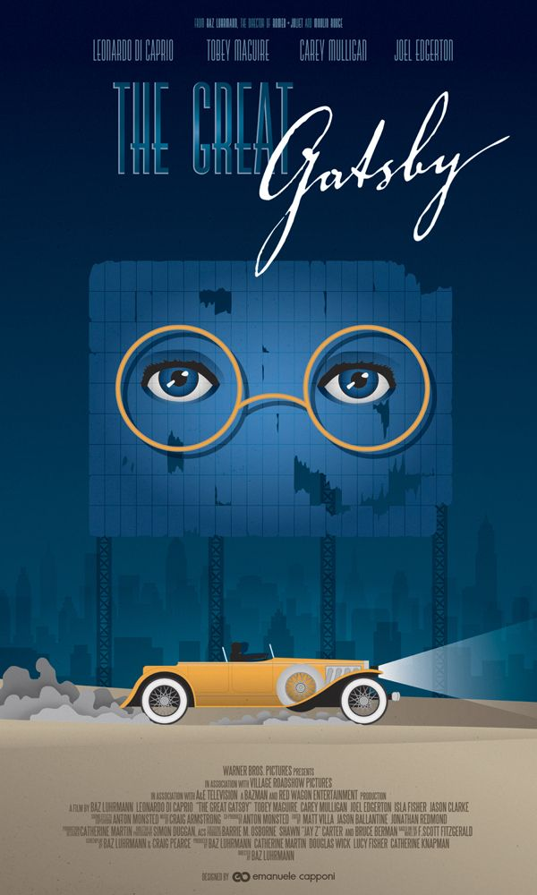 The Great Gatsby (2013) - Minimal Movie Poster by  Emanuele Capponi #minimalmovieposter #alternativemovieposter #emanuelecapponi