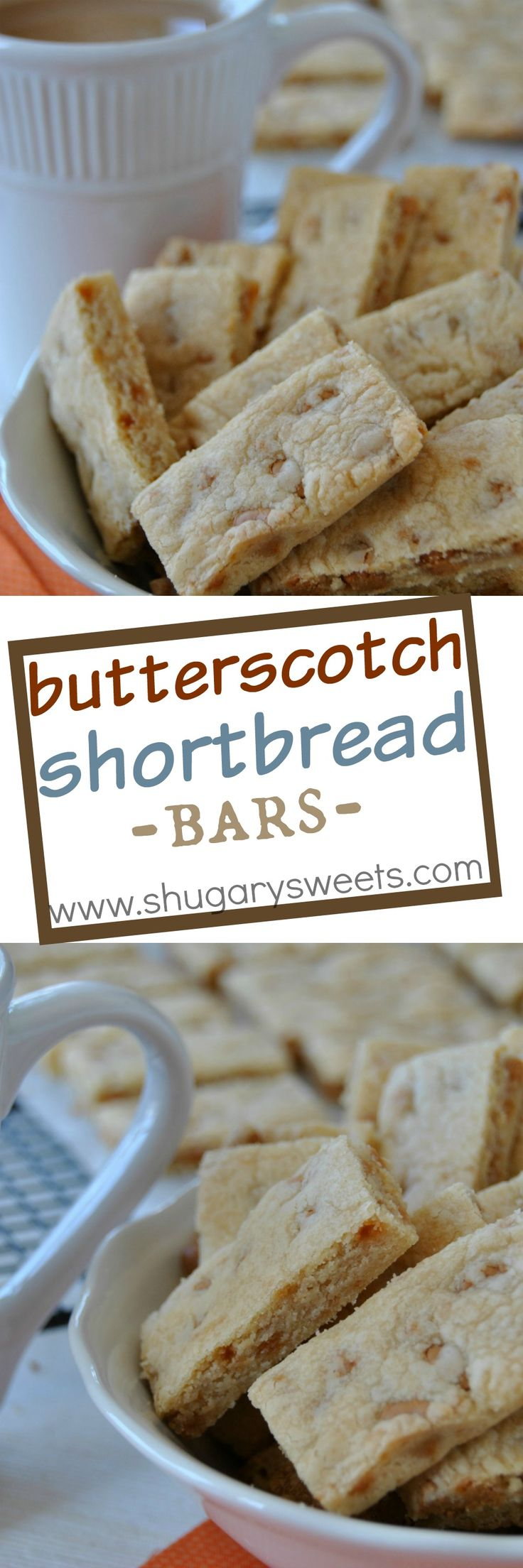 Butterscotch Shortbread Bars: browned butter and butterscotch chips give these…