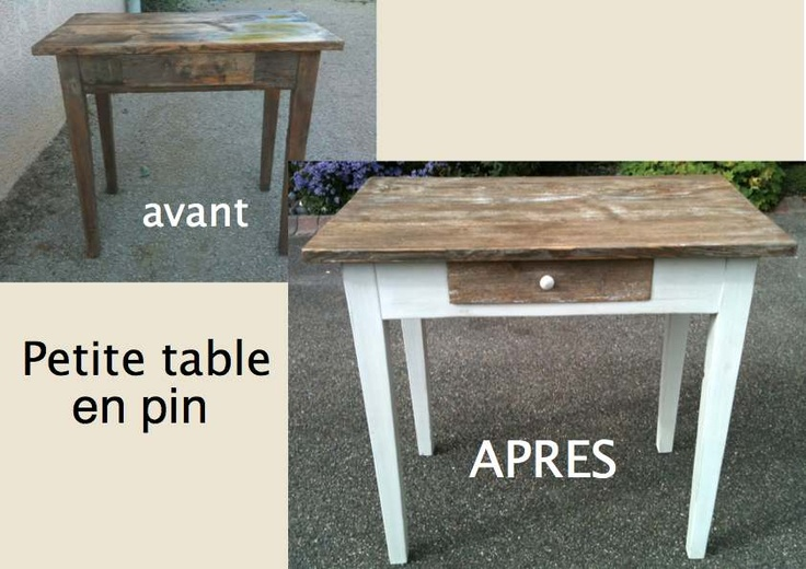 PETITE TABLE en pin assortie au confiturier.