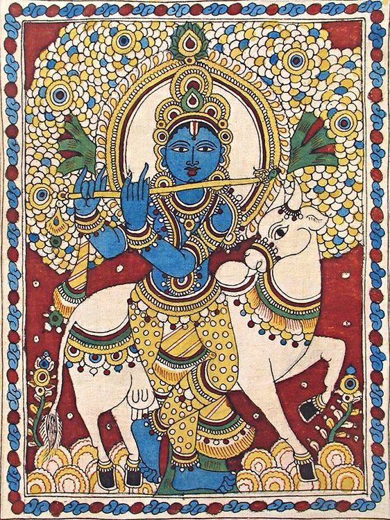 Murlidhara Krishna - Kalamkari Painting