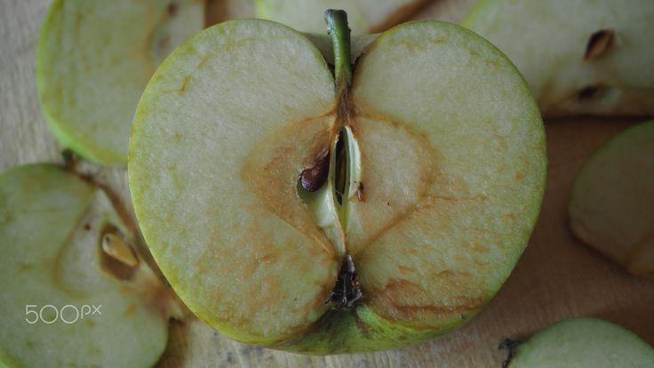 russet apple - russet apple cut in half