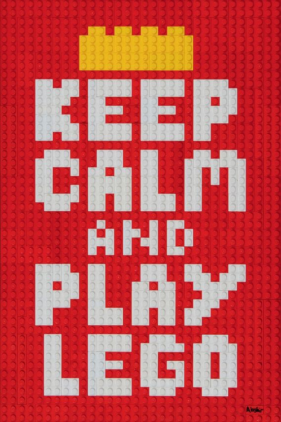 Lego Mosaic 'Keep Calm and Play Lego'