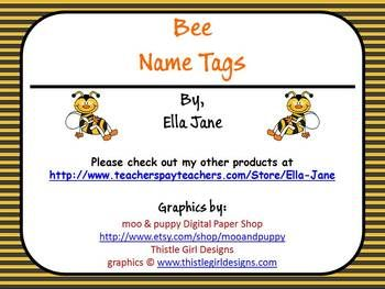 Free Bee Name Tags