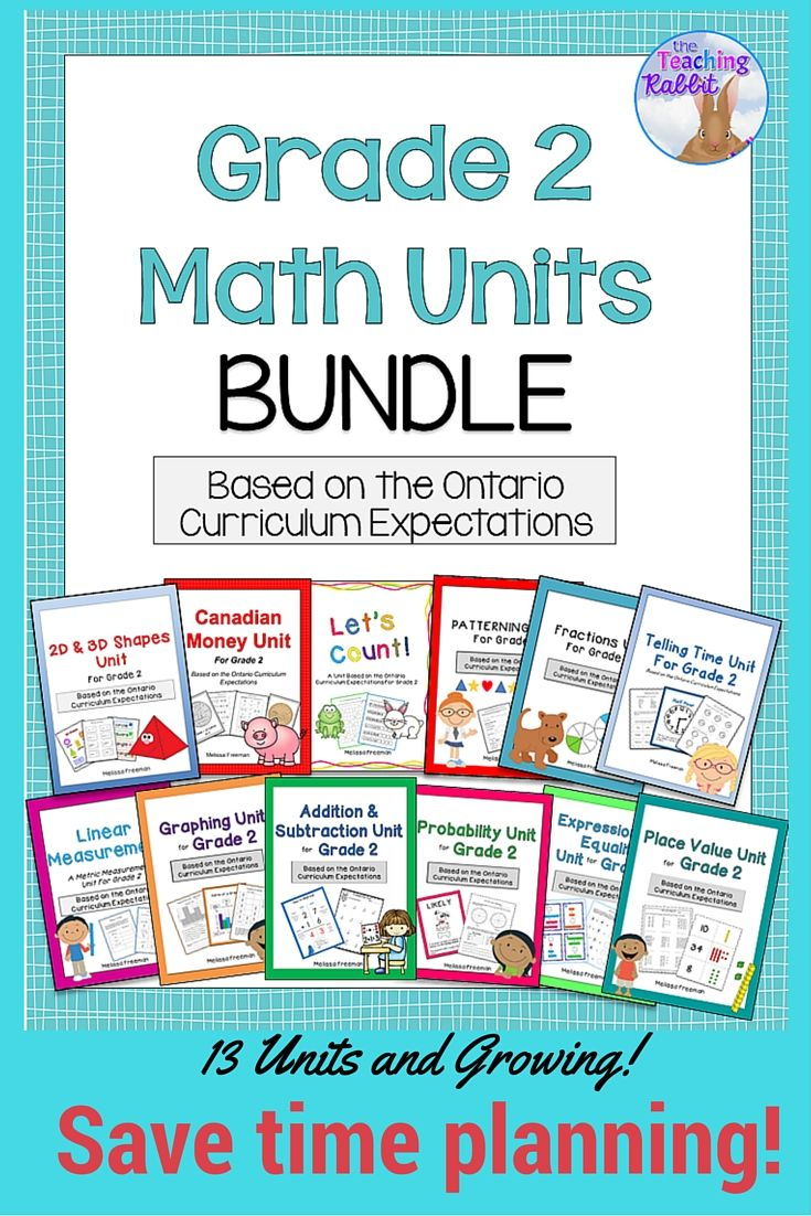 grade 2 math units full year bundle  ontario curriculum