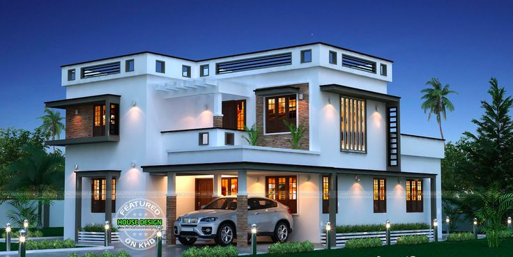50 best kerala flat roofs images on pinterest house for The space scape architects thrissur kerala