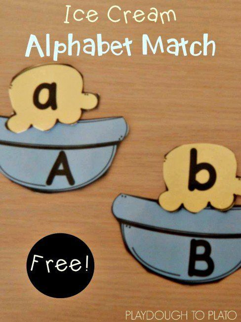Free ABC game: Ice Cream Alphabet Match Up. Pair the upper and lowercase letters. Such a fun kids' activity for summer!