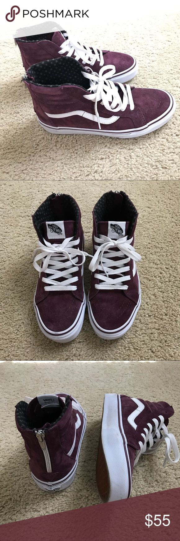 Sk8-Hi Zip MTE Vans Worn once! Suede material in Fig color. Excellent condition. Youth/men's size 6, so they fit a women's 7.5. Vans Shoes Sneakers