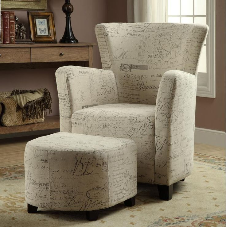 Alicia Club Chair With Ottoman In White By Worldwide Home Furnishing