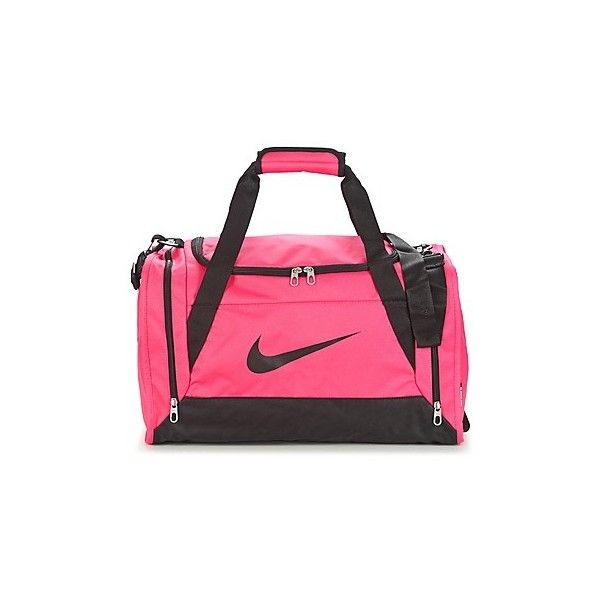 Nike BRASILIA 6 Sports bag (37 CAD) ❤ liked on Polyvore featuring bags, handbags, sports, sports bag, pink, sporting bags, nike bags, nike, pink bag and nike handbags