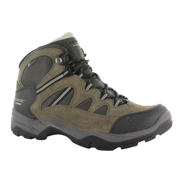 Hi-Tec Mens Banderra II Lace Up Waterproof Walking Boots (12 US) (Smokey Brown/Olive Green)
