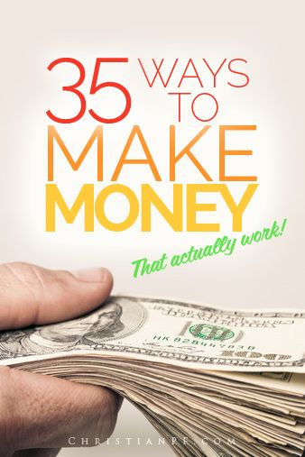 These are 35 ways you can  make money from home that actually work!   I have actually tried and done most of these myself and can attest that they are legitimate money-making ideas - so check them out!