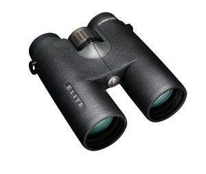 Bushnell Elite Roof Prism Binoculars  These binoculars are lightweight, the perfect size, and will give you a great view no matter where you are. They have fully-coated optics for the best view possible and nonslip rubber armor that will absorb shock. They have fold-down eyecups and a center focus system that provide an amazing hunting experience. You'll be able to see everything when using this pair of binoculars, in the sun and in the late evening as well.