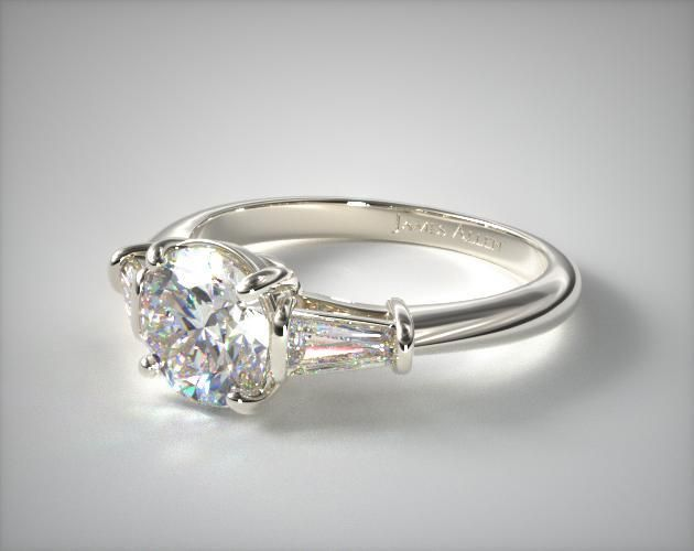 Platinum Tapered Baguette Diamond Engagement Ring