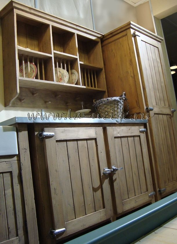 Кухня Кантри деревянная