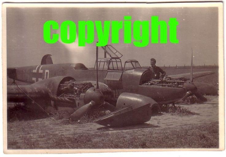 #1 Orig.Foto Flugzeug Me 110 Zerstörer Notlandung Bruch Westfront in Sammeln & Seltenes, Militaria, 1918-1945 | eBay