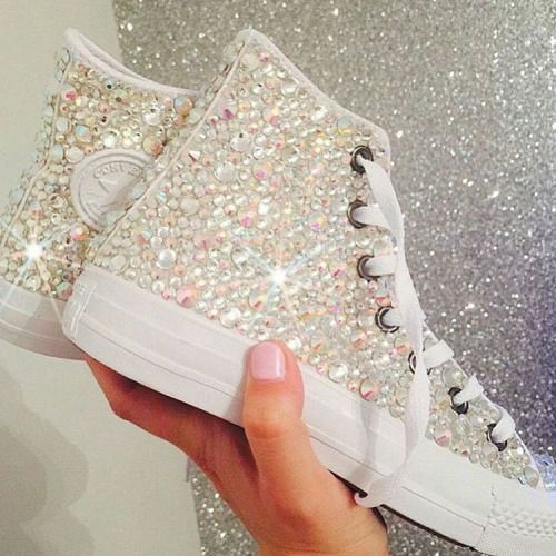 Perfect for bride getting ready for her big day Love these sneakers Follow Shop Love ❤❤❤❤ remycelebrityhair.com Get inspired visit our store like our Facebook #weddingday #glamorous #best #georgeous #white #sparkle #look #shine #girly #converse #selfie #ladies #cute #bride #model #swag #sneakerhead #sneakerculture #weddingstyle #fall #beautiful #bridesmaids #celebrities #girlystuff #glam #she #perfection #homecomimg #fashioninspo