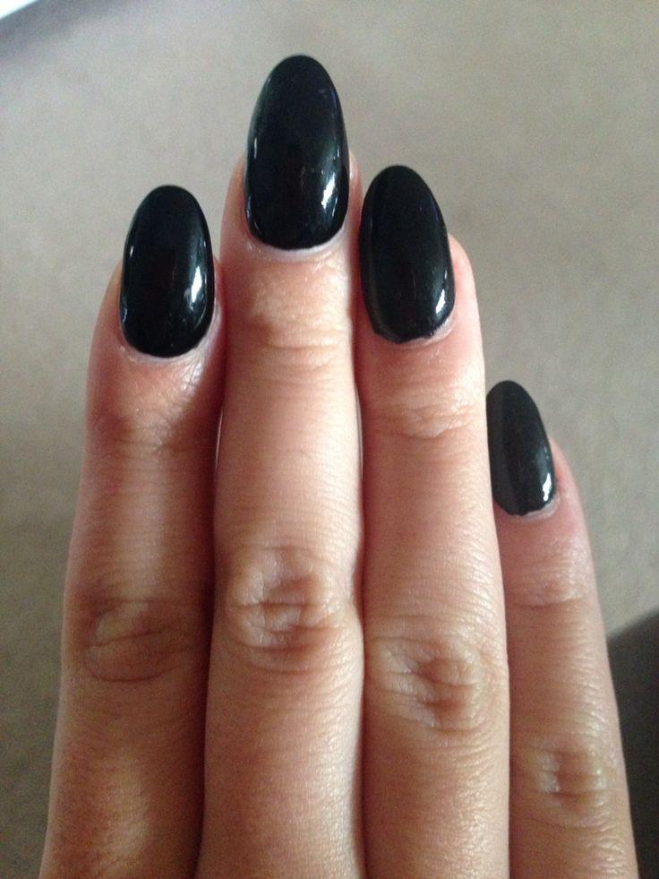 Best 20+ Black almond nails ideas on Pinterest