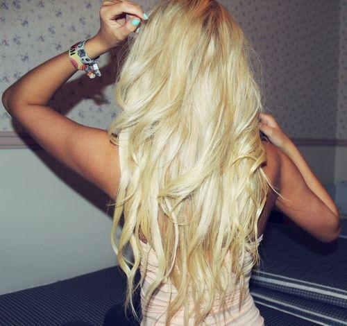Platinum blonde.