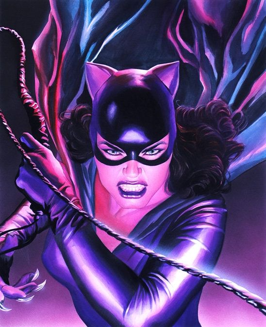Comic Art Shop :: Sal Abbinanti's Comic Art Shop :: Alex Ross-Cat Woman litho original:: The largest selection of Original Comic Art For Sale On the Internet