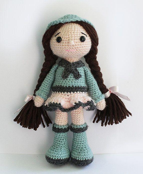 PATTERN : Doll Crochet pattern Amigurumi Doll от Anatillea ♡