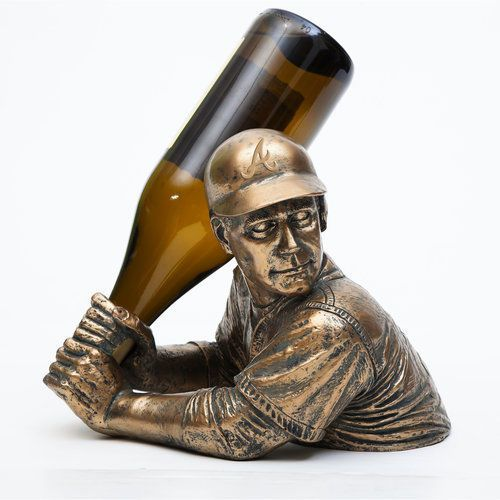 Wine-Bottle-Holder-Display-Rack-Baseball-Fan-Vintage-Accent-Tabletop-Gift-Sports