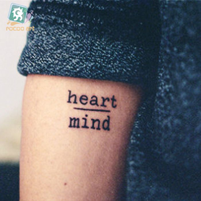 New-Disposable-Waterproof-Fake-Tattoo-Stickers-Courage-Fear-And-Heart-Mind-Letters-Water-Transfer-Temporary-Tattoos.jpg (700×700)