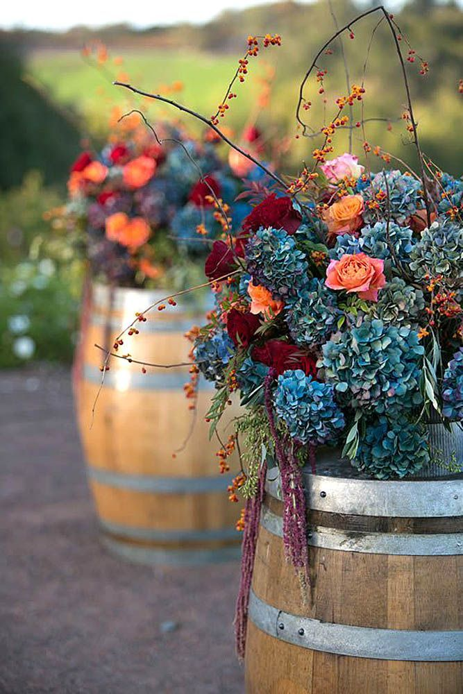 18 Incredible Ideas For Fall Wedding Decorations ❤ There are so many wonderful autumn colors and fall elements, such as pumpkin, flowers, cranberries that you can use for your fall wedding decorations. See more: http://www.weddingforward.com/fall-wedding-decorations/ #wedding #decor #fall