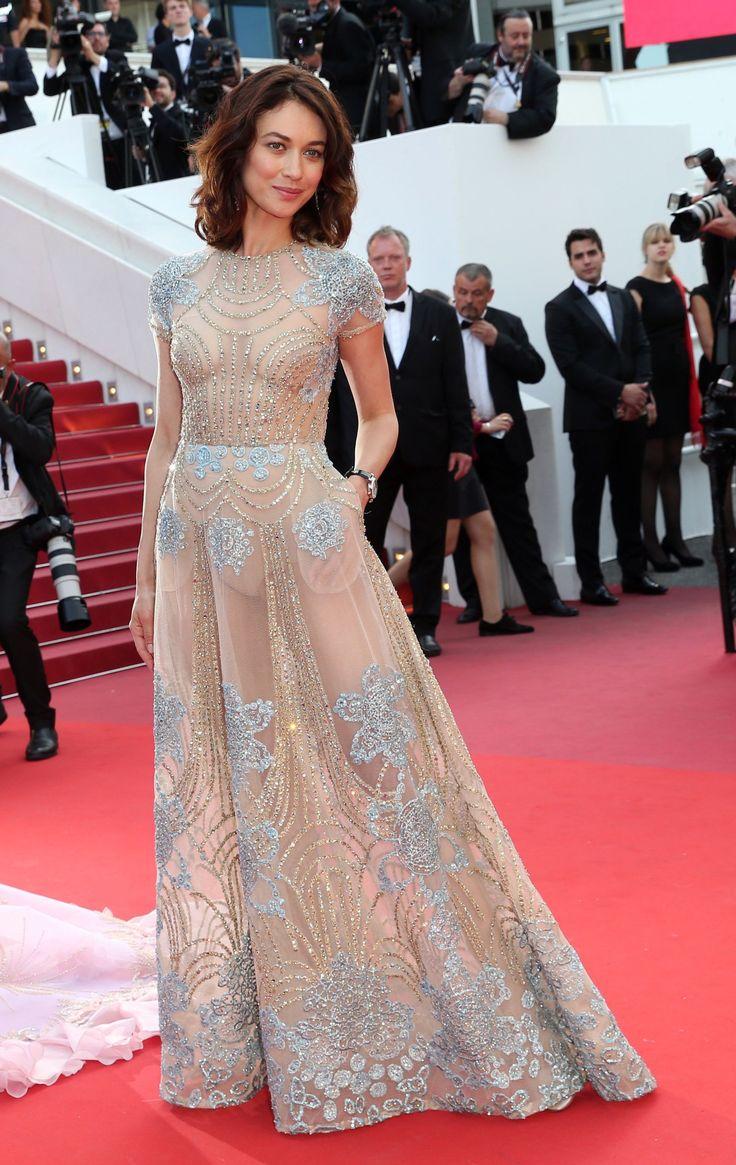 Olga Kurylenko in Elie Saab at the 2017 Cannes Film Festival.