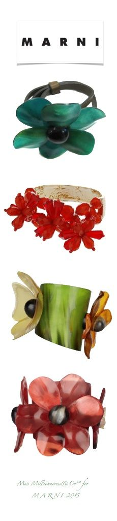 MARNI Resin 'Tropical' Statement Cuffs - Miss Millionairess&Co™
