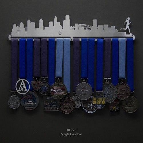 Cityscape Medal Display – Female Runner