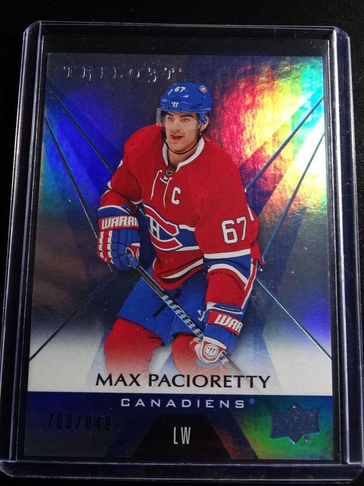 2016-17 Upper Deck Trilogy #22 Max Pacioretty Canadians 708/849 Blue Card #MontrealCanadiens