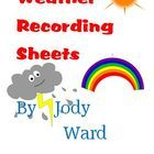 Weather Recording Sheets contains 3 pages in total.This is great for recording the weather, daily,  with the younger grades. Children can each ha...