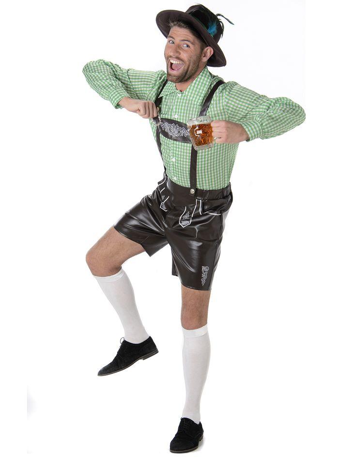 Tragen Sie an Fasching oder am Oktoberfest in München ein Lederhosen Kostüm und mischen Sie sich unter die echten Bayern!