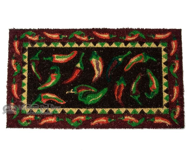 """Southwestern Door Mat - 16""""x28"""" Chili Peppers  - Mission Del Rey Southwest"""