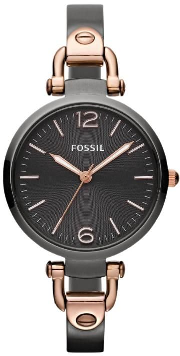 $101 Ladies Fossil Watches - Georgia Rose Gold And Grey Ladies Watch