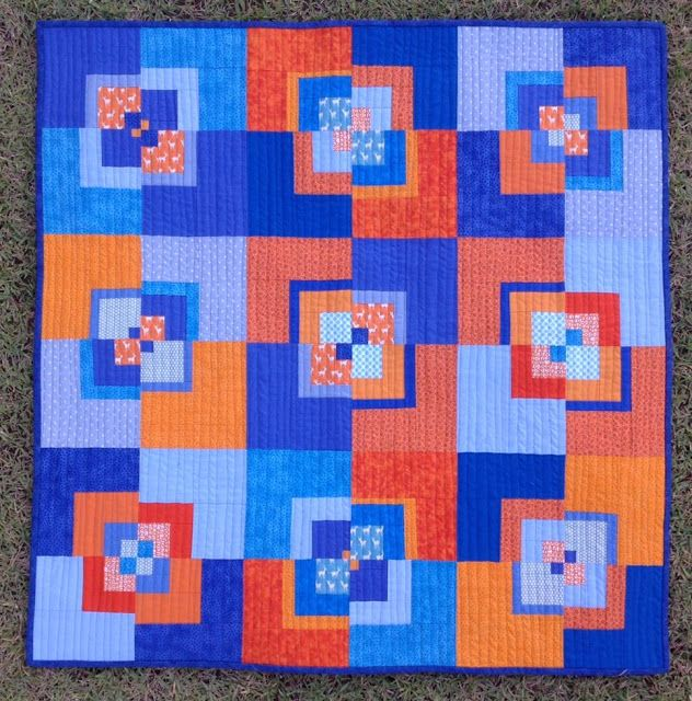 377 best ORANGE QUILTS images on Pinterest | Block quilt ... : blue and orange quilt - Adamdwight.com