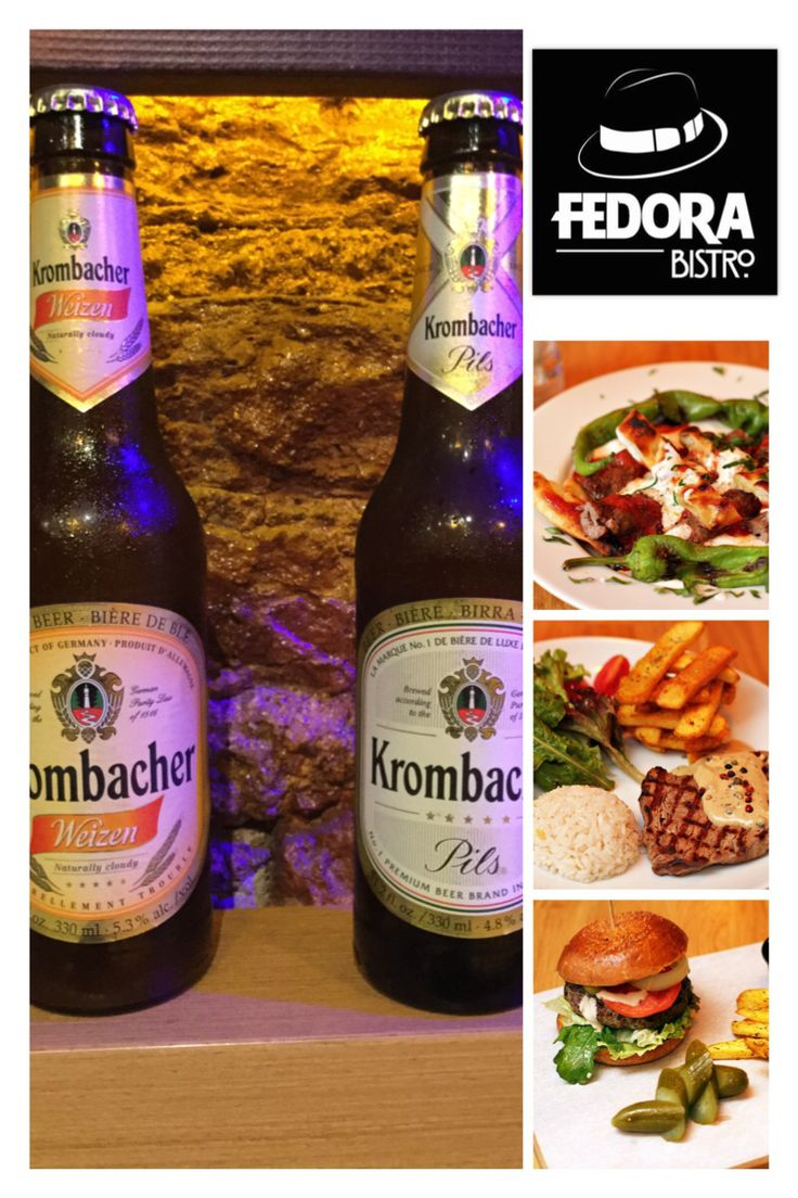Bira listemizin yeni üyeleri... Krombacher Pils ve Krombacher Weizen... Fedora'nın muhteşem yemeklerine lezzet katmaya geldiler.