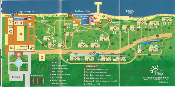 El Dorado Royale Resort Map Resort Maps Pinterest