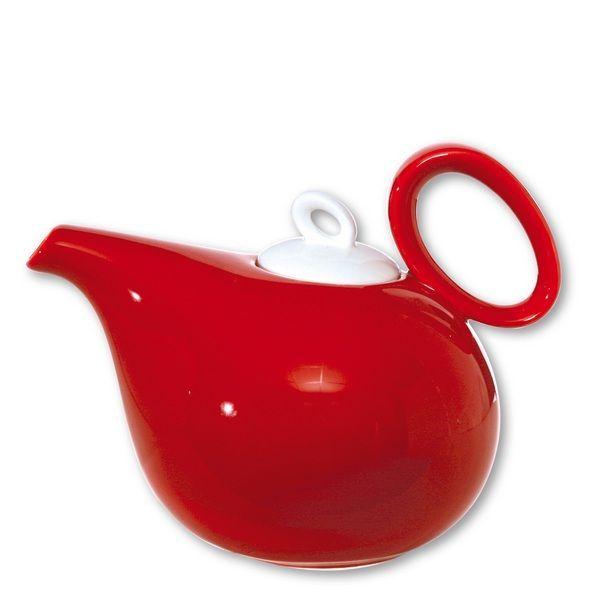 Théière porcelaine Teo rouge 1 L