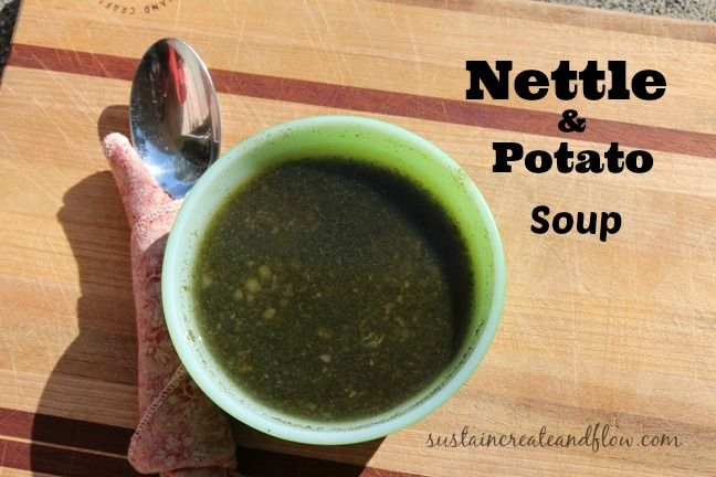 2 spring nettle soup recipes.  Nettle and potato and nettle egg-drop soup.